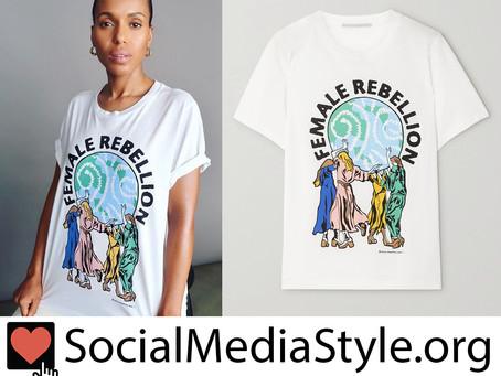Kerry Washington's Stella McCartney Female Rebellion T-shirt for International Women's Day