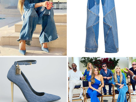 Heidi Klum's patchwork jeans and denim pumps from the Today Show