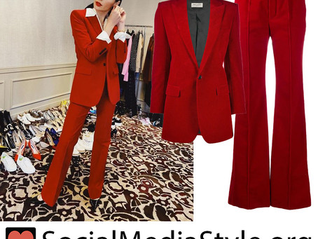 Gal Gadot's red suit from Good Morning America