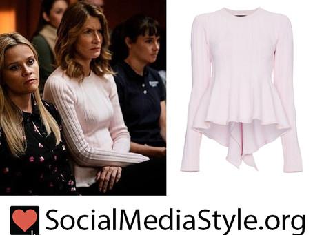Renata (Laura Dern)'s pink peplum sweater from Big Little Lies