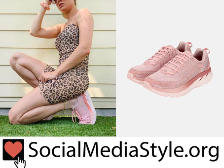 Brie Larson's Outdoor Voices Pink Clifton Sneakers