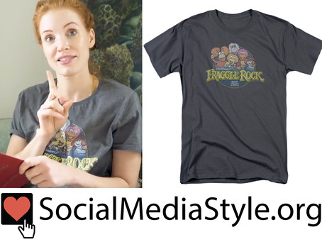 Jessica Chastain's Fraggle Rock T-Shirt