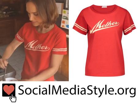 Natalie Portman's red Mother t-shirt