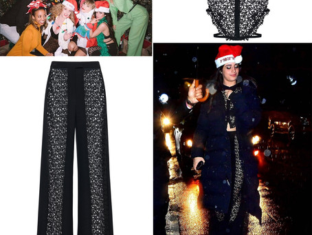 Camila Cabello's black lace top and pants