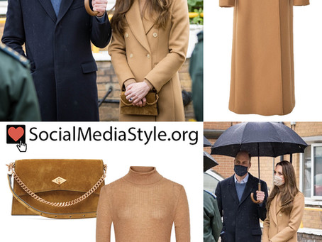 Kate Middleton's camel and brown outfit
