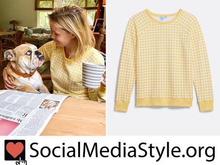 Reese Witherspoon's Draper James yellow gingham sweatshirt