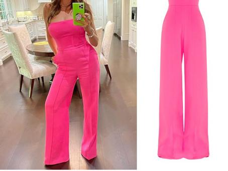 Sofia Vergara's strapless hot pink jumpsuit from The Ellen DeGeneres Show