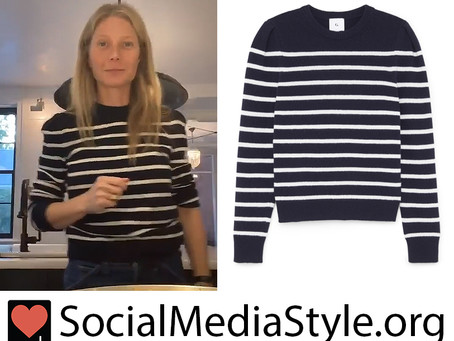 Gwyneth Paltrow's navy striped sweater