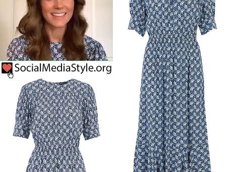 Kate Middleton's blue floral print dress
