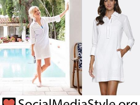 Reese Witherspoon's Helen Jon x Draper James white shirtdress