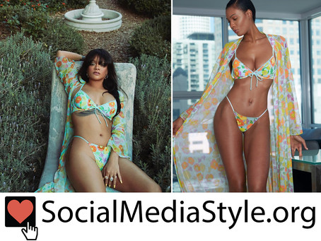 Rihanna's Savage x Fenty floral print lingerie