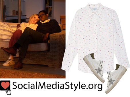 Eleanor (Kristen Bell)'s star shirt and sneakers from The Good Place