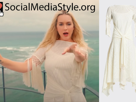 Katy Perry's white fringed dress from the Electric music video