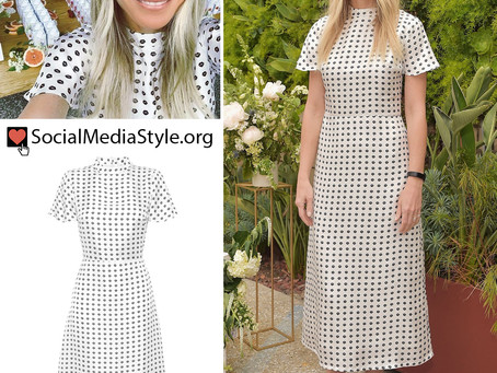 Gwyneth Paltrow's black and white lip print dress from the Flow Alkaline Spring Water Launch