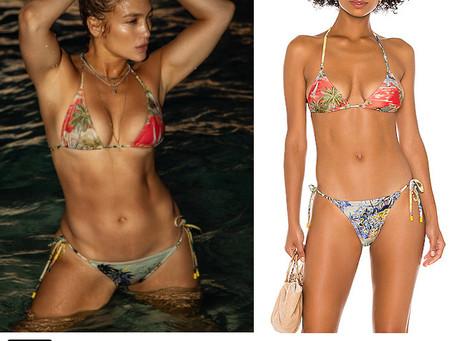 Jennifer Lopez's tropical print bikini