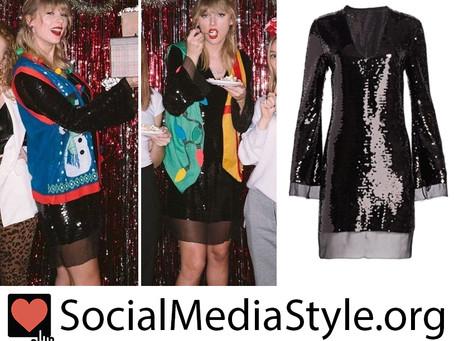 Taylor Swift's black sequin dress