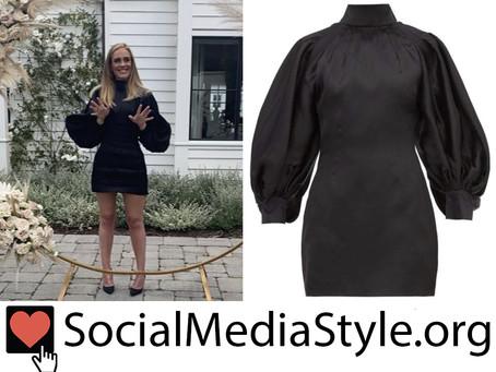 Adele's black balloon sleeve dress