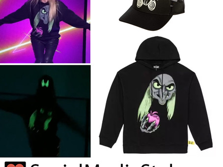 Disney Villains x Heidi Klum Cruella Eyes Glow in The Dark Hat and Old Hag Witch Pullover Hoodie