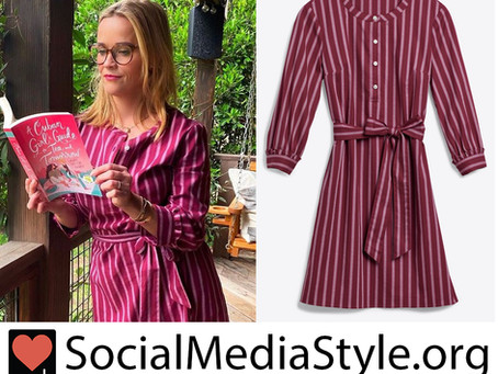 Reese Witherspoon's Draper James berry striped dress