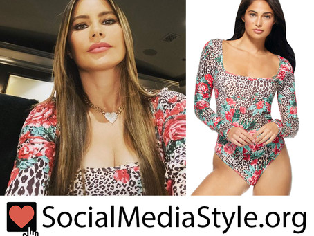 Sofia Vergara's cheetah and floral print bodysuit