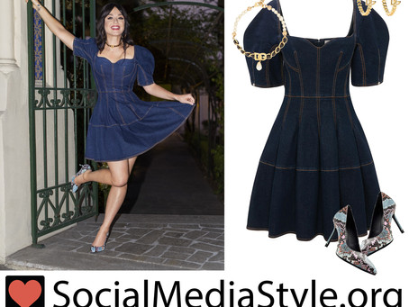 Katy Perry's denim dress and accessories from LVR Magazine