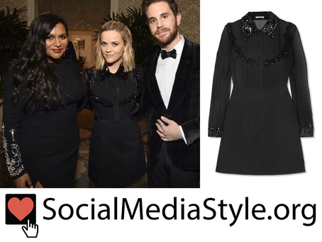 Reese Witherspoon's sequin trim black dress from ELLE's Women In Hollywood