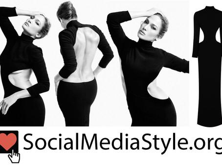 Jennifer Lopez's black cutout dress from WSJ. Magazine