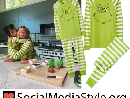 Kylie Jenner and Stormi's Grinch pajamas