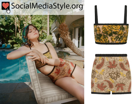 Selena Gomez's bralette and high-waisted briefs from Vogue Magazine