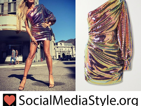 Heidi Klum's one shoulder sequin dress from America's Got Talent