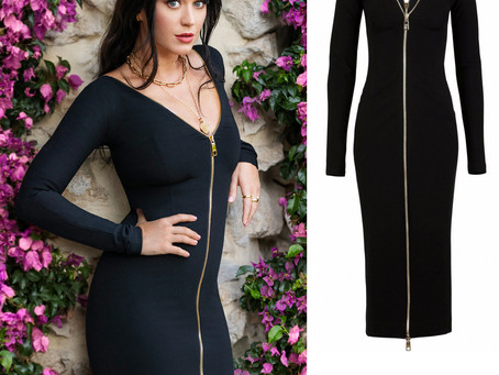 Katy Perry's zip up black dress from LVR Magazine