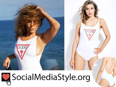 Jennifer Lopez's Guess swimsuit