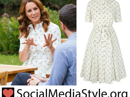 Kate Middleton's white polka dot shirt dress