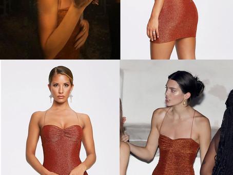 Kendall Jenner's shimmy orange mini dress