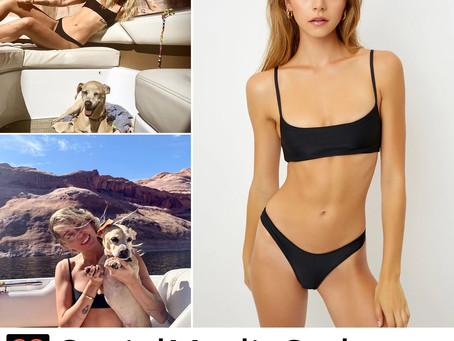 Miley Cyrus' black bikini