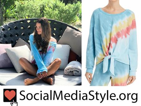 Lea Michele's tie dye sweatshirt