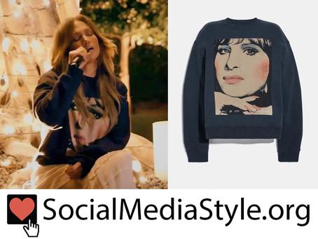 Jennifer Lopez's Barbra Streisand Sweatshirt from One World: Together at Home