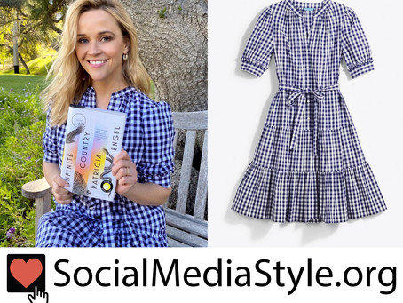 Reese Witherspoon's Draper James gingham dress