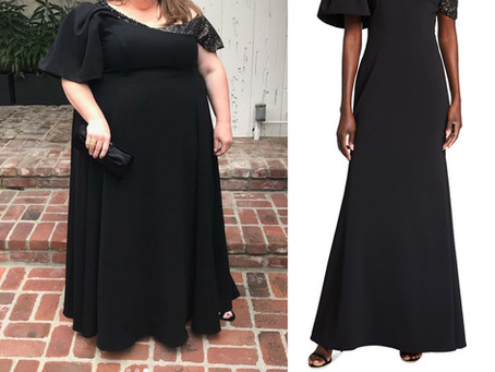 Chrissy Metz's black gown from the Critics Choice Awards