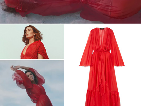 """Mandy Moore's red dress from the """"When I Wasn't Watching"""" video"""