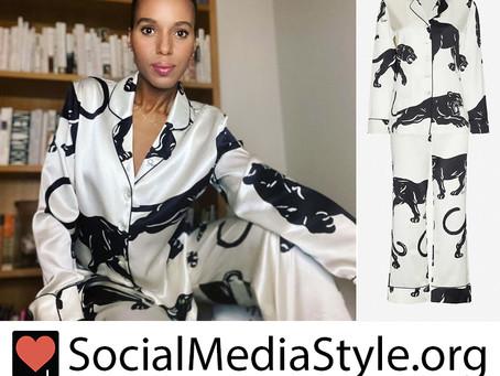 Kerry Washington's panther print pajamas from Good Morning America