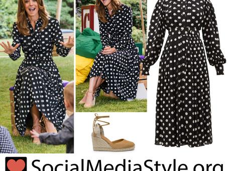 Kate Middleton's polka dot dress and espadrilles