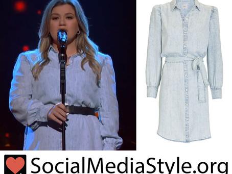 Kelly Clarkson's denim dress from The Kelly Clarkson Show