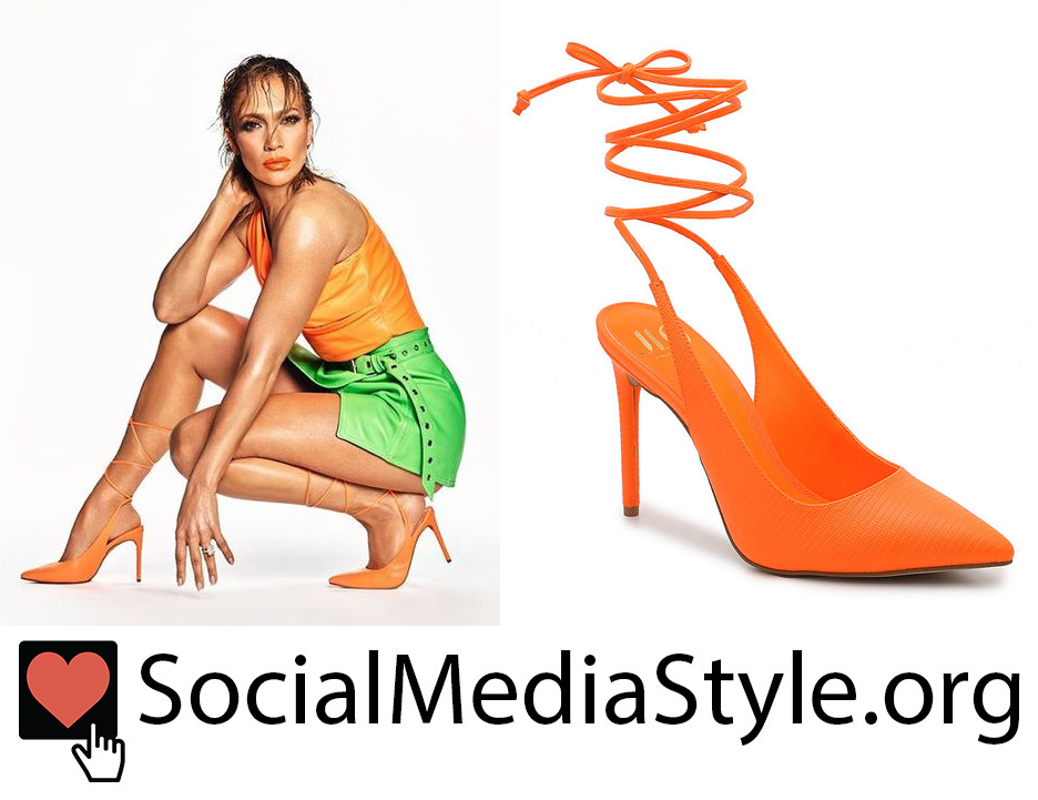 JLO Collection from DSW orange lace