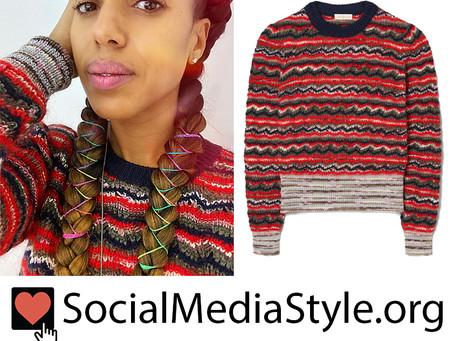 Kerry Washington's striped sweater