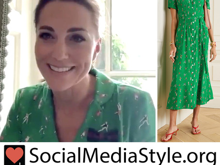 Kate Middleton's green tennis print dress