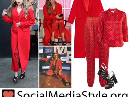 Millie Bobby Brown's red outfit from the Pandora Me Collection Launch
