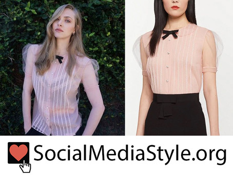 Amanda Seyfried's pink tulle top