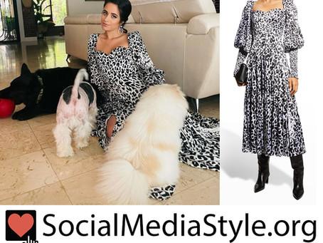 Camila Cabello's puff sleeve leopard print dress
