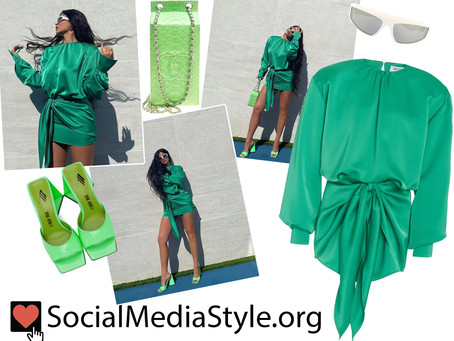 Kylie Jenner's green outfit